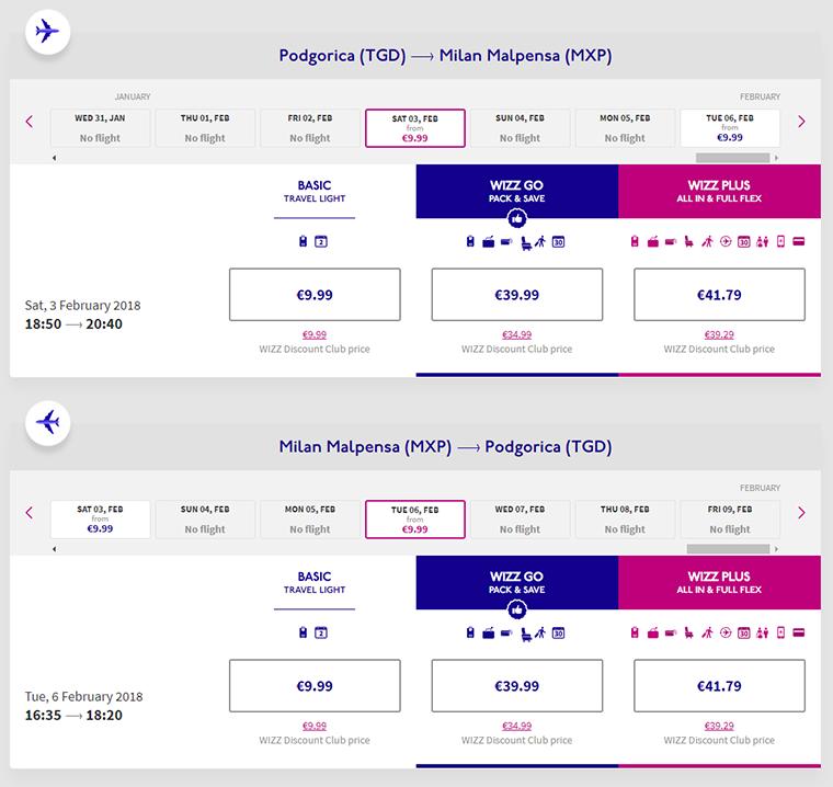 Avionska Karta Podgorica Berlin.Milano 20 Povratna Avio Karta Iz Podgorice Jeftino Putuj
